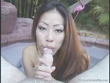 Hot Japanese Teen Pool Side Blowjob