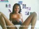 Ebony Teen Fingering Her Pussy