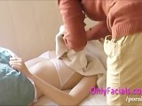 First Facial During Casting For Extremely Shy Czech Teen