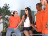 Teen Whore Gangbanged By Construction Workers