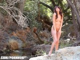 Natural Nudist Katie Jordin Masturbates While On A Hike