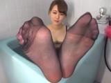 Japanese Pantyhose Footjob 4