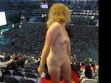 Blonde Flashing At A Stadium