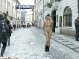 Crazy Babe Holly Has Fun In Snow