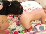 Hot Lesbian Sex Using Bizaare Sex Toys