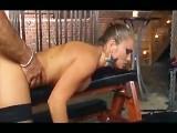 Rita Flatoyano In Ripped Stockings