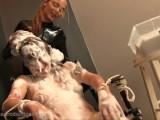 Dirty Girl Scrubbing