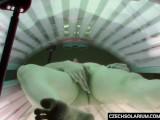 Slow Pussy Masturbation In Solarium Tube