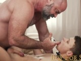 BoyForSale – Little Slave Boy Fucked Raw By Dominant Daddy Muscle Bear