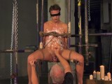 Blindfolded Sub Milked For Cum By His Older Master
