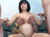 First Time Orgy For Preggo Teen