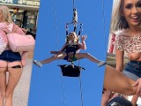 Blonde Teen Sky Pierce Public Sex After Showing Pussy To Crowd POV