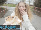 Public Agent Teen Babe Sabrina Spice Gives Blowjob In Forest