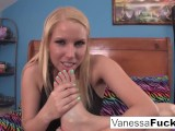 Cute Vanessa Cage Cleans, Oils Up And Plays With Her Feet