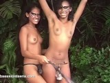 Lesbian Spanking In The Jungle By Two Nude Young Ethnic Teens